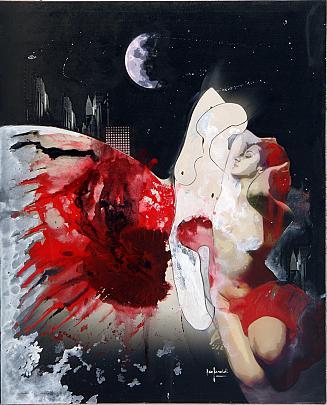 Sogno con la luna - EZIO  RANALDI - TECNICA MISTA su tela - 2850,00 €