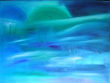 tramonto blu - Andreina Guerrieri - Olio - 330€