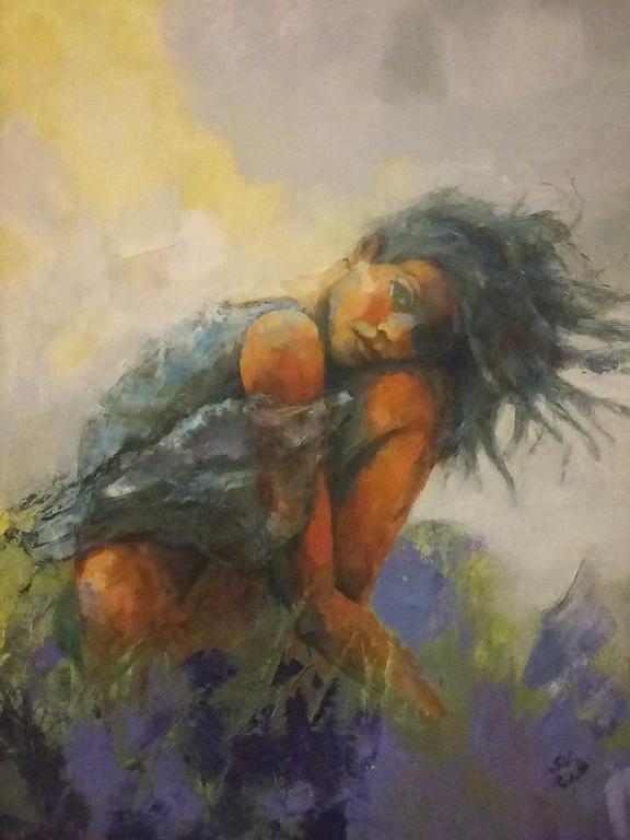 Come erba al vento... - SILVIA RIDOLFI - Olio - 380 €