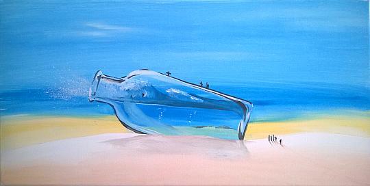 onda in bottiglia - Alessandro Bicci - Tempera - 150 €