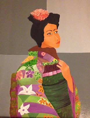 Japanese Lady - Alba  Andò - Olio