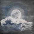 Ce soir, la Lune re^ve..   ( Questa sera, la Luna sogna.. ) - Luana Marchisio - Olio - 120 €