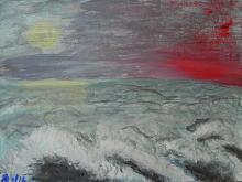 vita sotto luce e dolore - Laura Respiggi - Tempera
