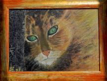 China cat - Laura Respiggi - Tempera