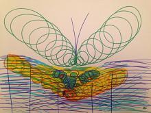 farfalla - Andreina Guerrieri - Pastelli - 50€