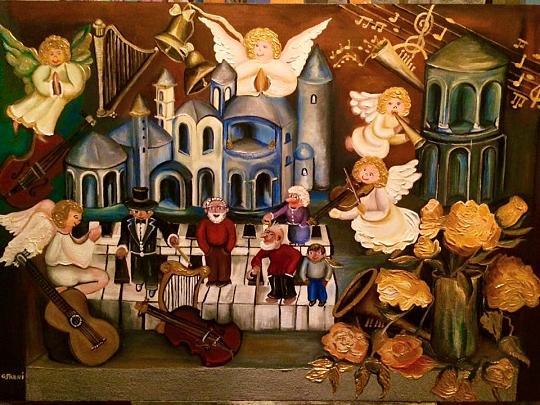 La città della musica  - Giuseppina Freni - Olio