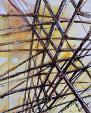 Reticolo - Lucio Forte - Acrilico, acquerello, china su tela - 230 €