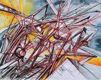 Fysis - Lucio Forte - Acquerello, china, penna a sfera rossa su carta - 200 €