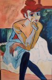 Ma... Femme en Chemise   (La mia... donna in camicia) - Luana Marchisio - Olio