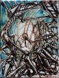 Senza Titolo 7 - Lucio Forte - Acrilico, Acquerello, China su tela - 100 €