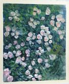 Le rose di Grazia - grazia bonini - Olio - 150€ - Venduto!