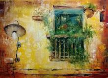 la finestra sul mondo - Mery BLINDU - Acrilico - Venduto!