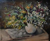 fiori - Olga Maksimova - Olio - 80€ - Venduto!