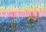 Paris, la Pluie..     (Parigi, la Pioggia..) - Luana Marchisio - Olio - 200 €