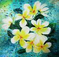 Nika flowers - anna casu - Olio