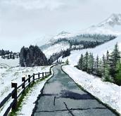 Prima neve sul Gran Sasso - Michele De Flaviis - Digital Art