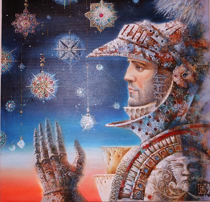 """Ti regalerò tutte le stelle dell' Universo. 2"" - Viktoriya Bubnova - Olio"