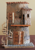 Bagno su balcone - Santina Mordà - scultura su tegola - 70€