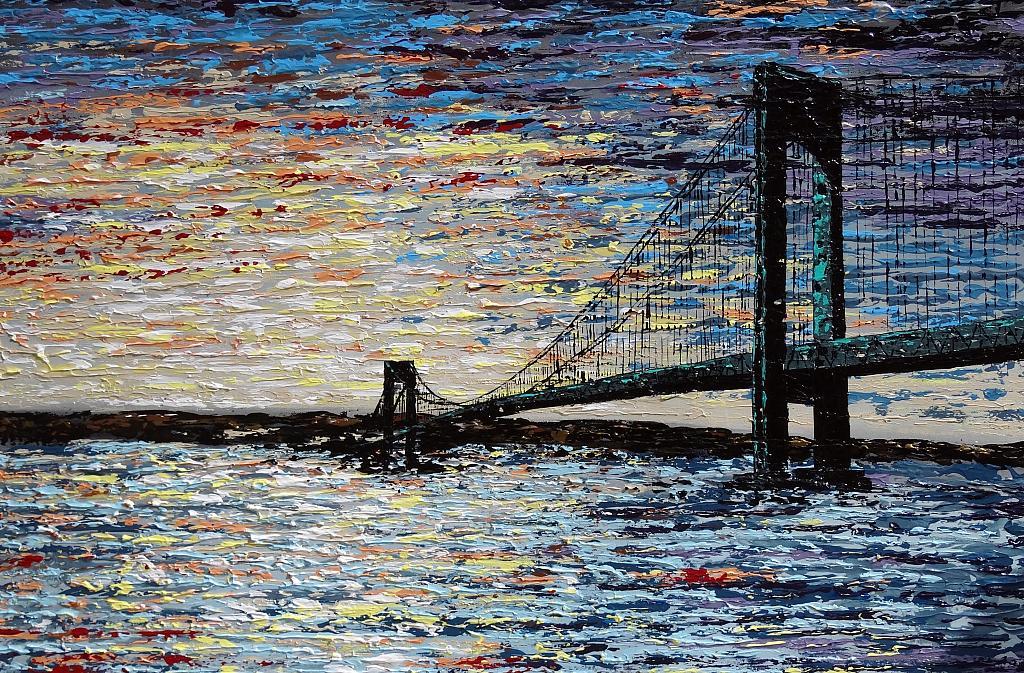Ponte di Verrazzano - New York - Daniela Pasqualini - Acrilico