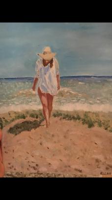 Donna innamorata - elena filip - Olio - 120 €