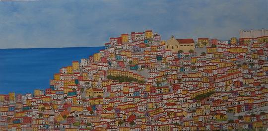 Paesaggio Mediterraneo 8 - alfredo Troilo - Olio - 800 €