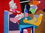 Les joueurs de cartes - Gabriele Donelli - Acrilico