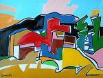 Case in collina - Gabriele Donelli - Olio