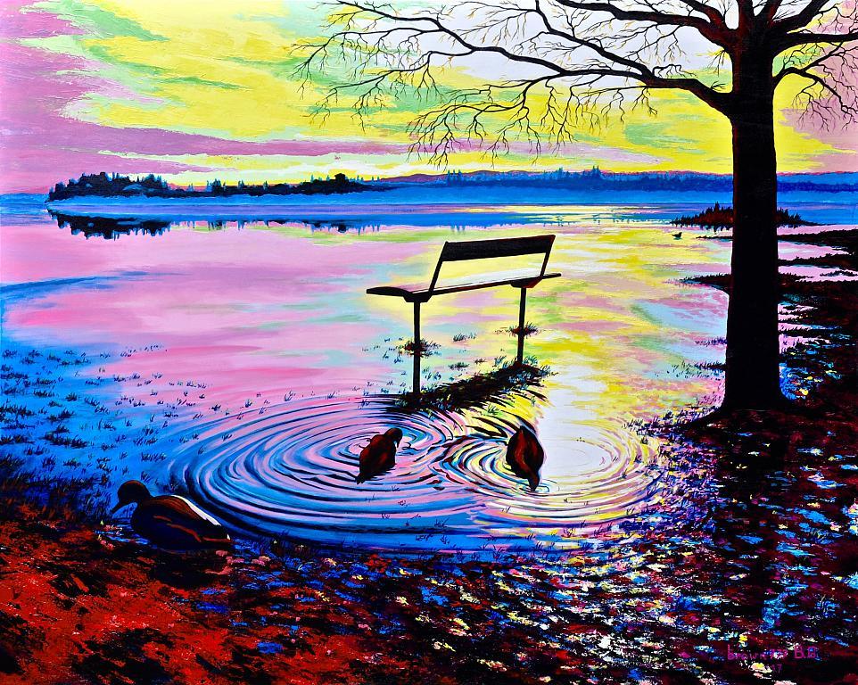 Esondazione del lago - GRECO Bruno - Acrilico