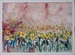 GIRASOLI - fiorella betti - Acquerello - 150€