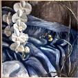 Paesaggio in blu - elisa marmo - Olio - 400 €