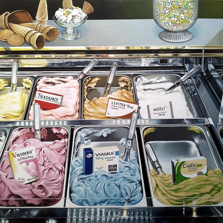 Sexual ice cream - Salvatore Ruggeri - Olio