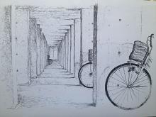 bici bici - Franco Gabotti - Pastelli - 170€