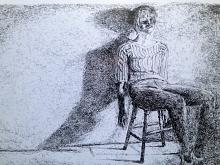 ritratto di ragazza in interno - Franco Gabotti - Pastelli - 170€