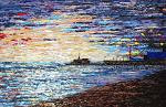 Tramonto sul molo di Santa Monica  - Daniela Pasqualini - Acrilico - Venduto!