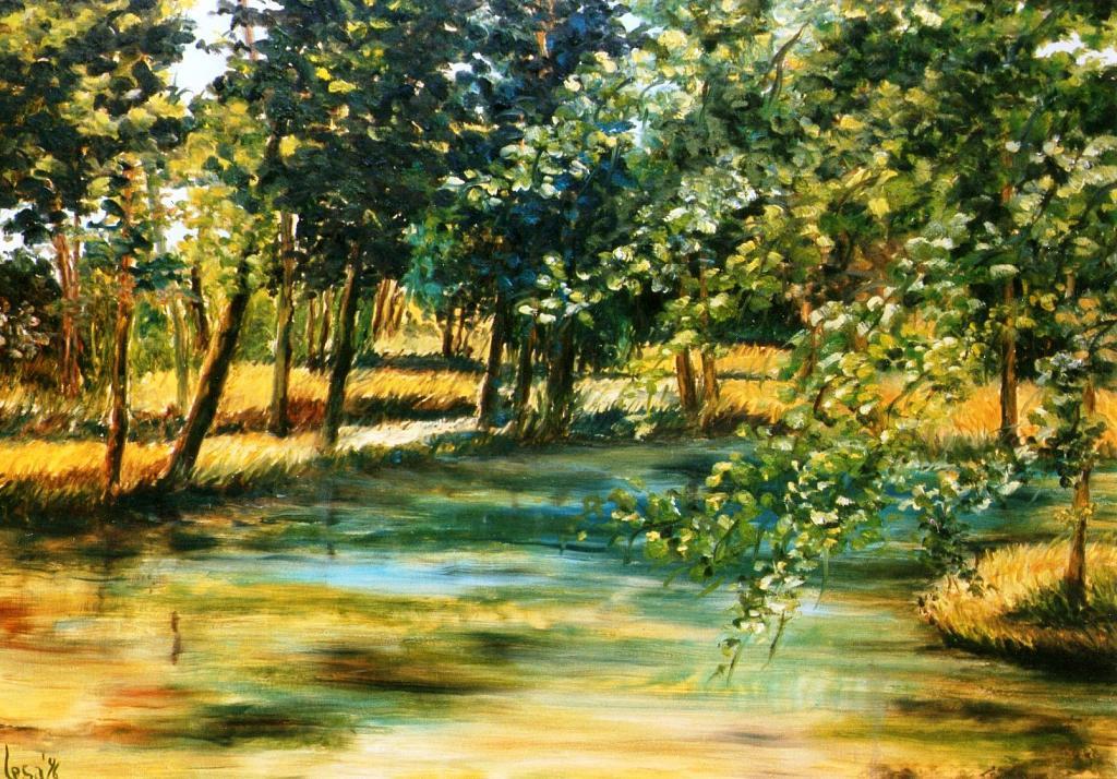 Pomeriggio sul fiume - GIUSEPPINA LESA - Olio - 530,00 €