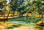 Pomeriggio sul fiume - GIUSEPPINA LESA - Olio - 530,00€