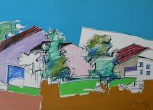 Paesaggio - Gabriele Donelli - Pastello e acrilico - 300€