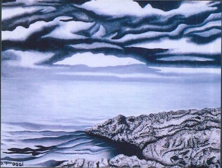 Marina bianco e nero - Gabriella Poggi - Olio