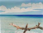 Marina con tronco - Gabriella Poggi - Olio
