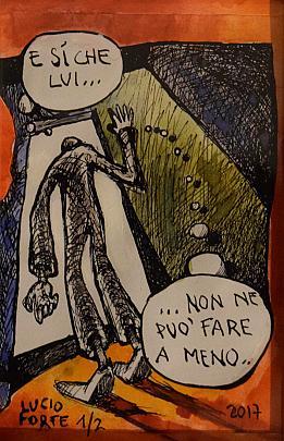 Non ne può... - Lucio Forte - Acquerello - 40 €