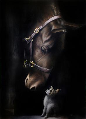 Animal stories 3 - Ivan Pili - Olio - 4750 €