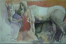 amico cavallo - SILVIA RIDOLFI - Acquerello - 190€