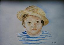 Ritratto di bambino - Caterina Martinetto - Acquerello - 80,00€