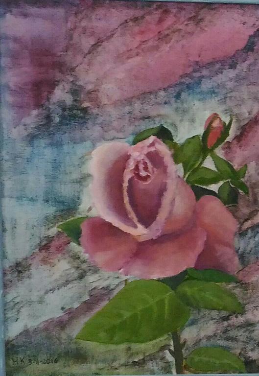 Atmosfera per una rosa - Caterina Martinetto - Olio