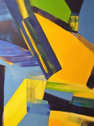Vibrazione in blu - Alessandra Bisi - Olio - 1450 €