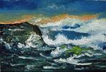Mare in burrasca - Pietro Dell Aversana - Olio - 100 €