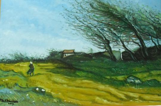 Colpo di vento - Pietro Dell Aversana - Olio - 120 €