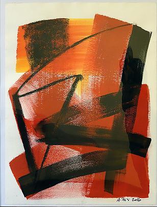 Negato rosso - Alessandra Bisi - inchiostro,carbone - 1200 €