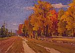 Autunno d'oro - Vasily Belikov - Olio