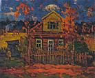 Casa di campagna - Vasily Belikov - Olio